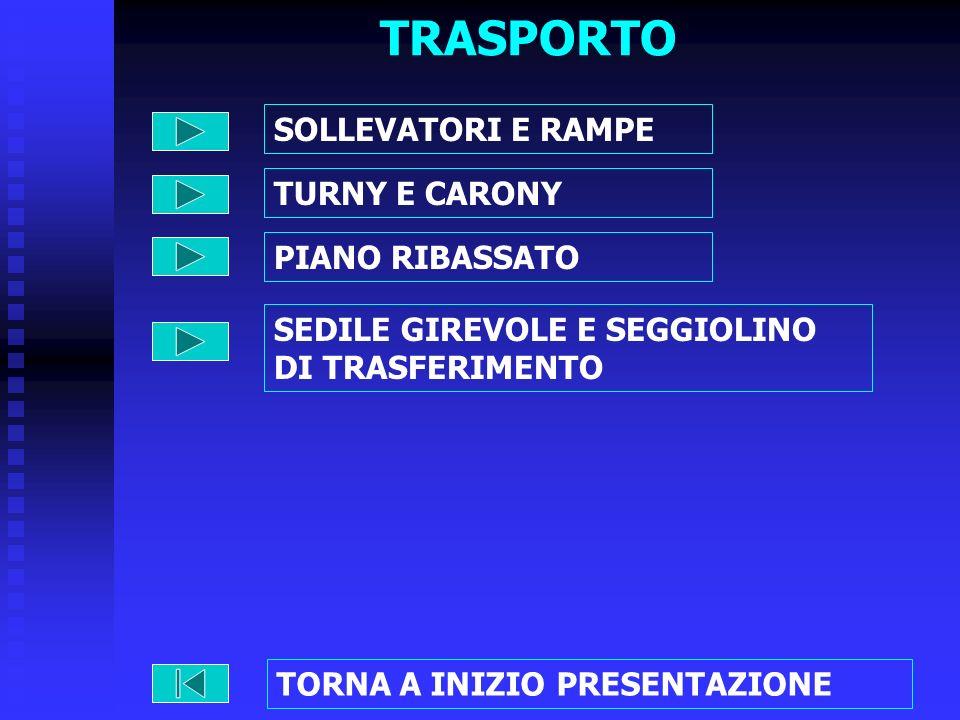 TRASPORTO SOLLEVATORI E RAMPE TURNY E CARONY PIANO RIBASSATO