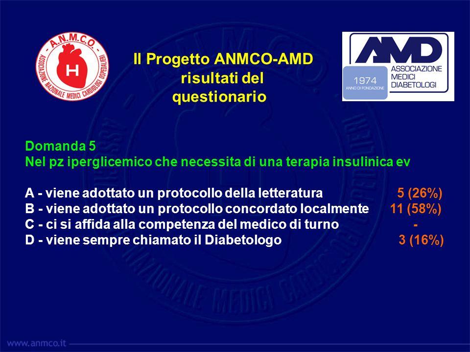Il Progetto ANMCO-AMD risultati del questionario Domanda 5