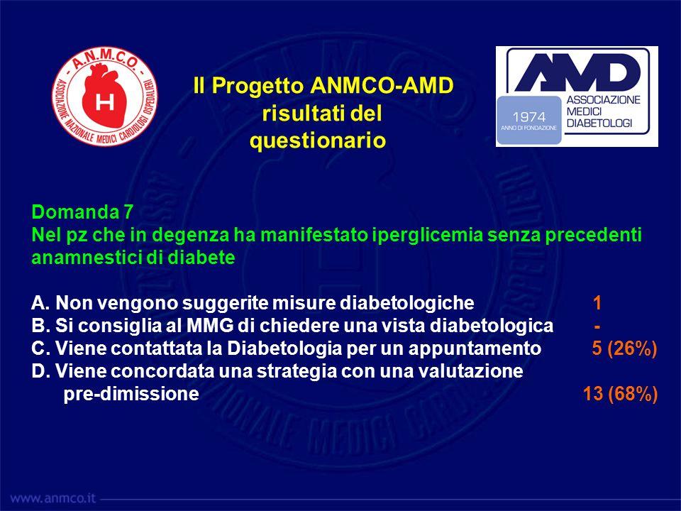 Il Progetto ANMCO-AMD risultati del questionario Domanda 7