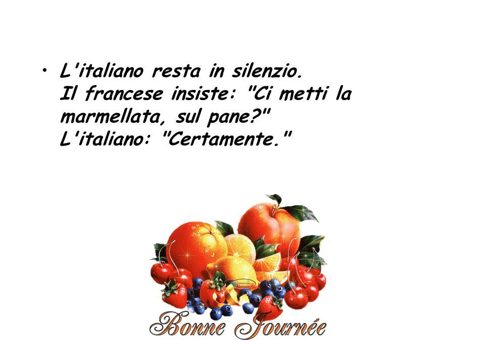 L italiano resta in silenzio