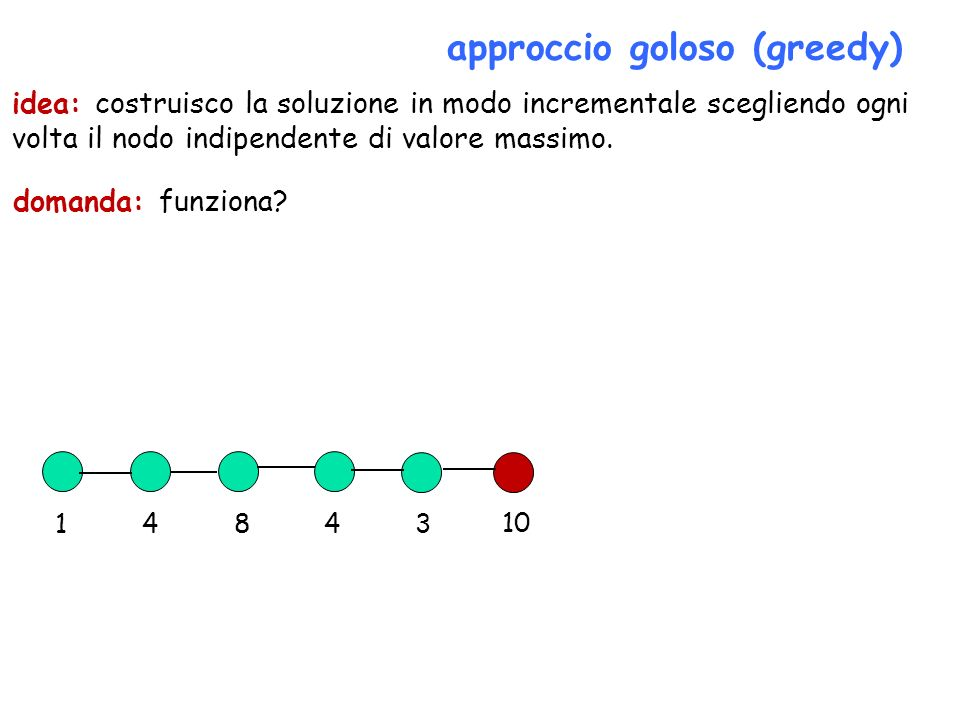 approccio goloso (greedy)