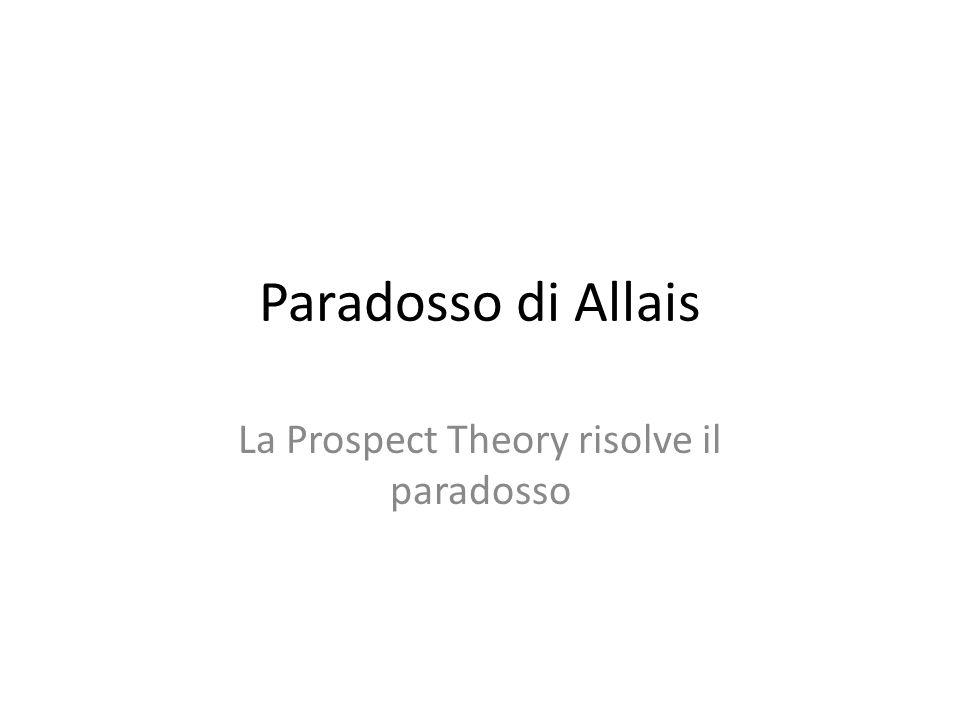 La Prospect Theory risolve il paradosso