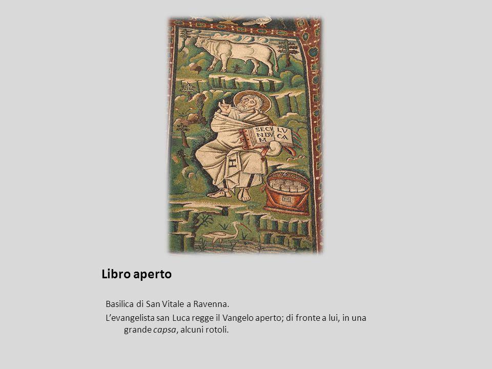 Libro aperto Basilica di San Vitale a Ravenna.