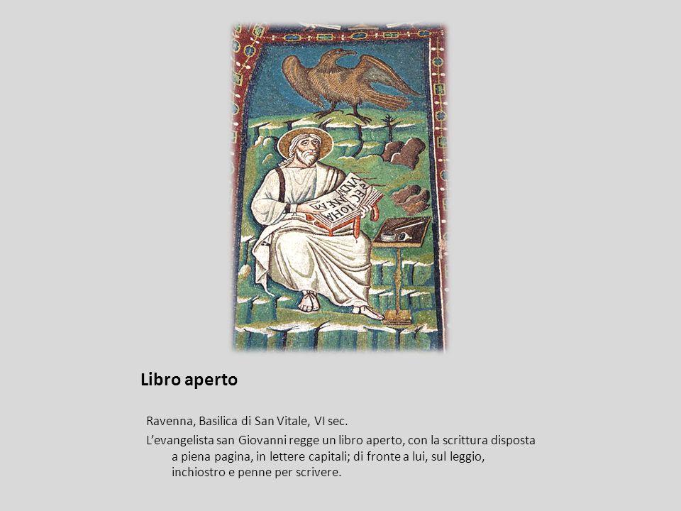 Libro aperto Ravenna, Basilica di San Vitale, VI sec.