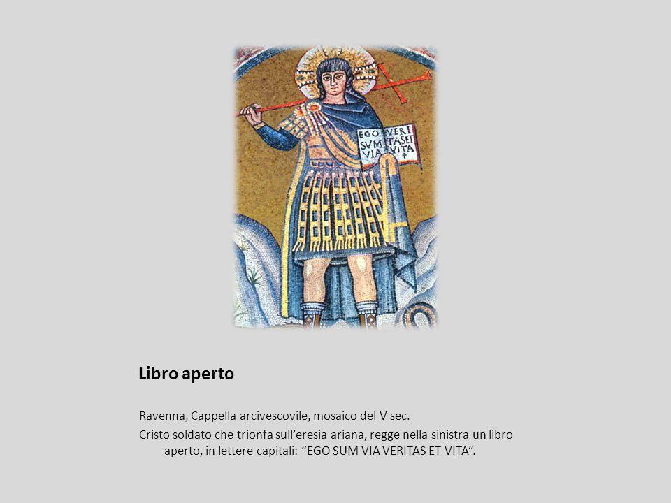 Libro aperto Ravenna, Cappella arcivescovile, mosaico del V sec.