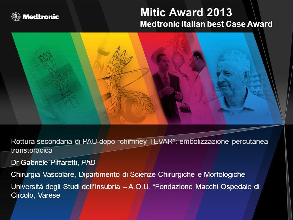 Mitic Award 2013 Medtronic Italian best Case Award