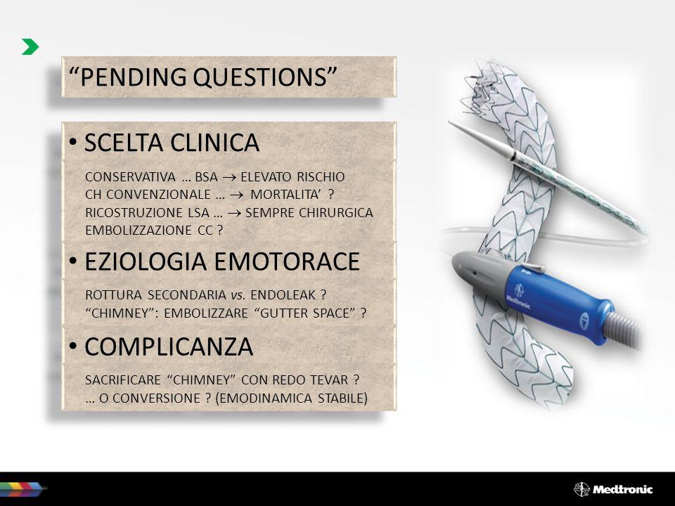 PENDING QUESTIONS SCELTA CLINICA EZIOLOGIA EMOTORACE COMPLICANZA