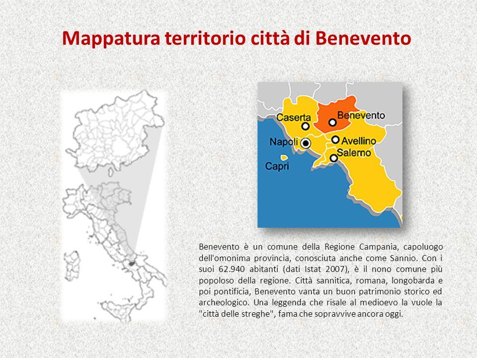 Mappatura territorio città di Benevento