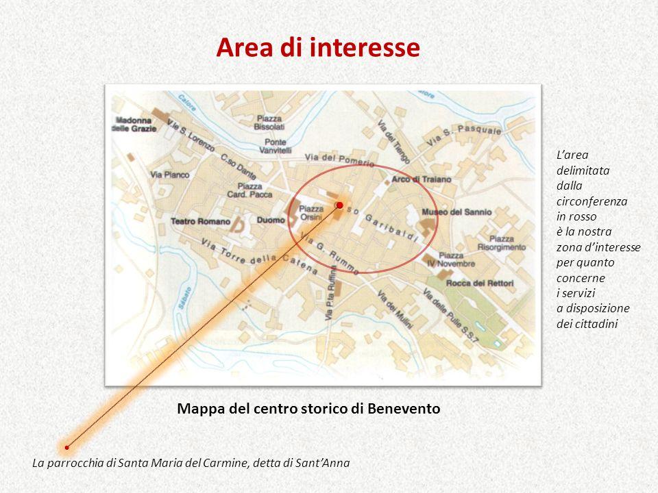 Mappa del centro storico di Benevento