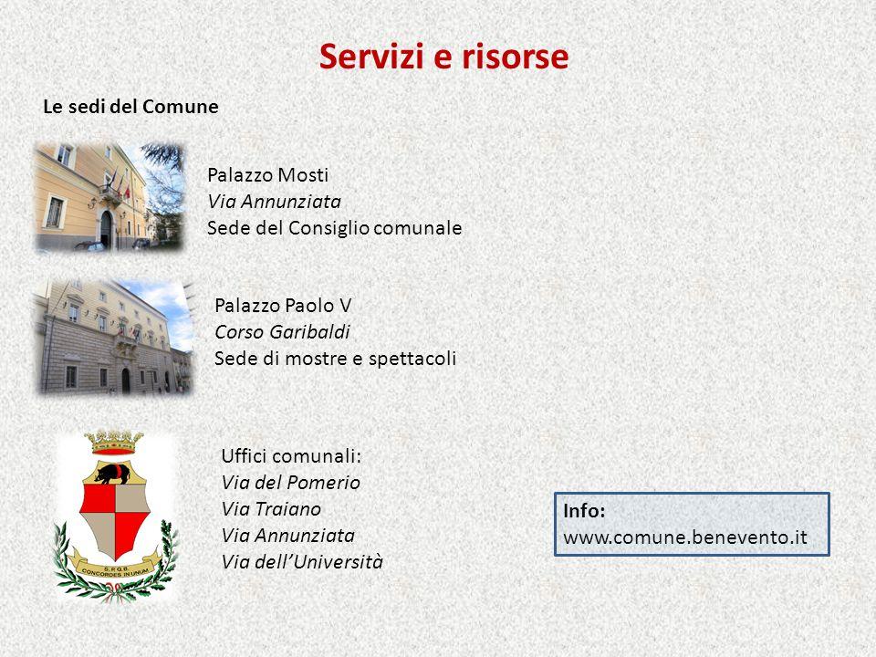Servizi e risorse Le sedi del Comune Palazzo Mosti Via Annunziata
