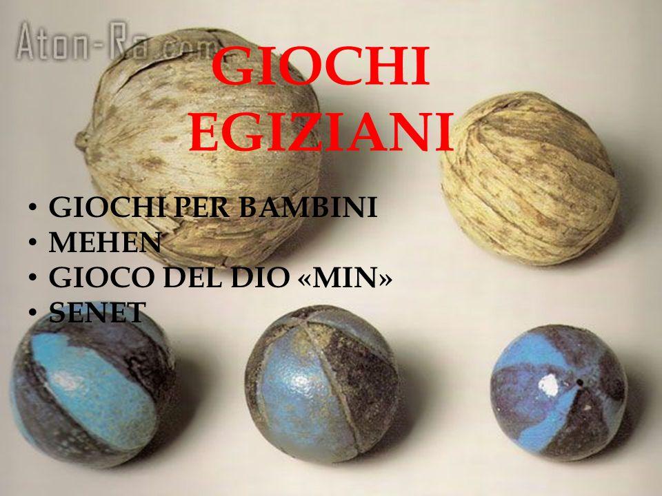 GIOCHI EGIZIANI GIOCHI PER BAMBINI MEHEN GIOCO DEL DIO «MIN» SENET