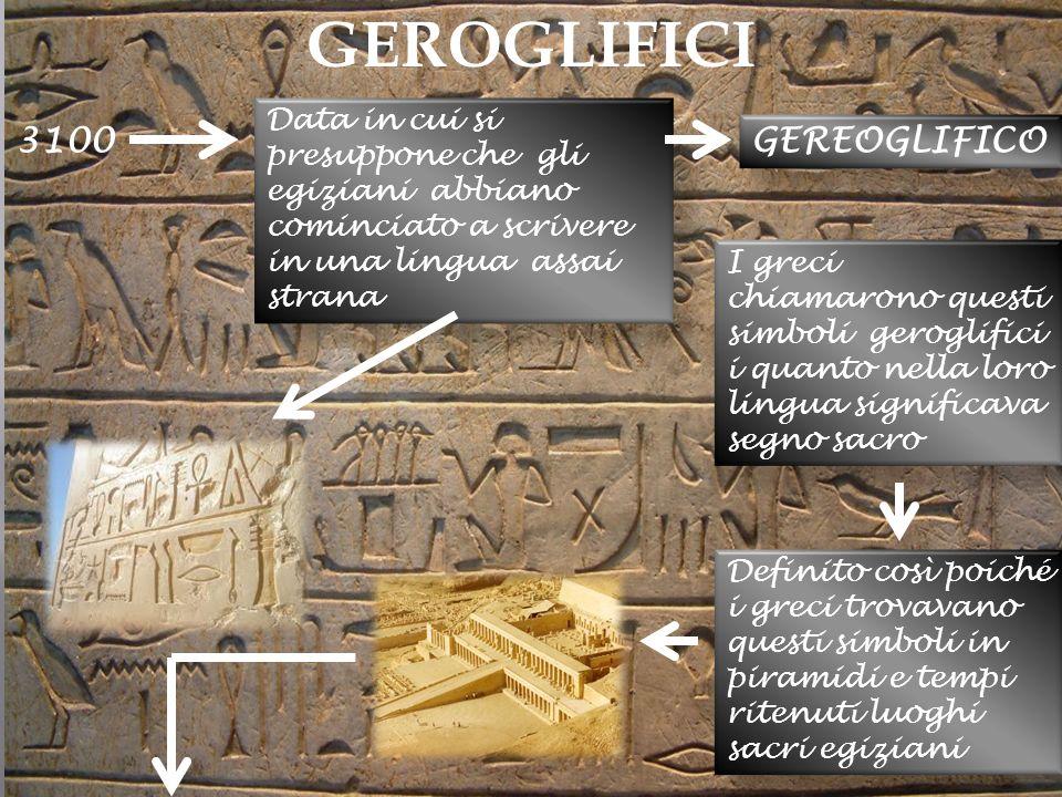GEROGLIFICI 3100 GEREOGLIFICO