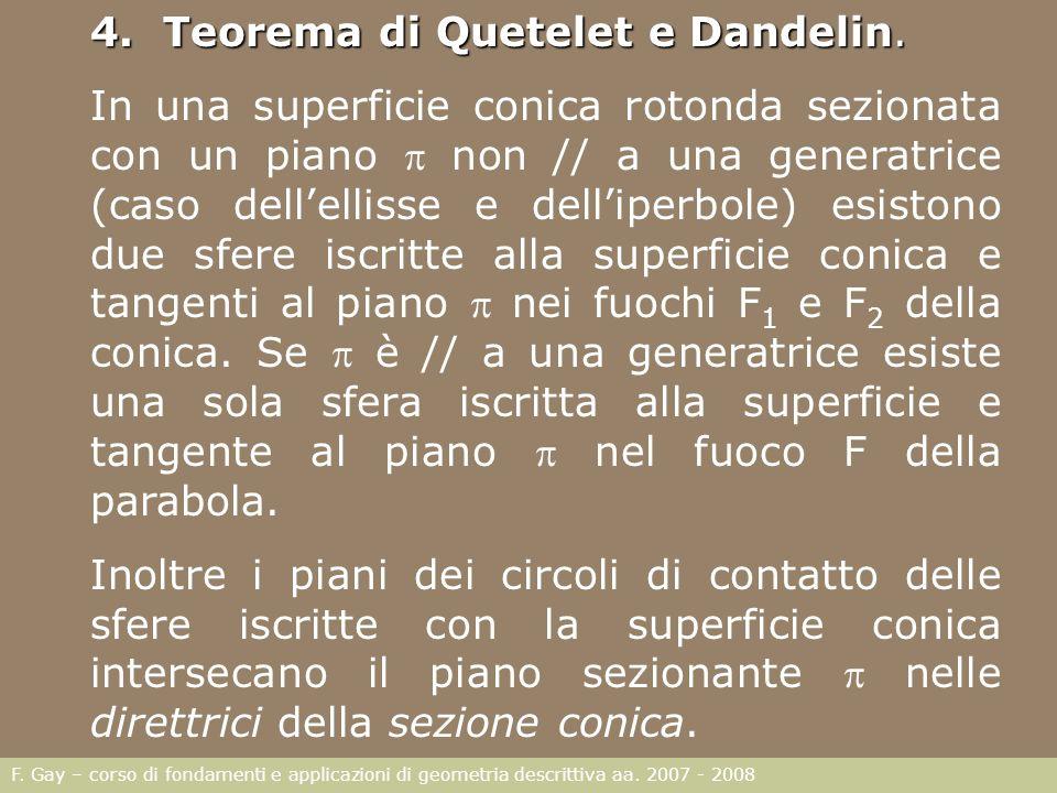4. Teorema di Quetelet e Dandelin.