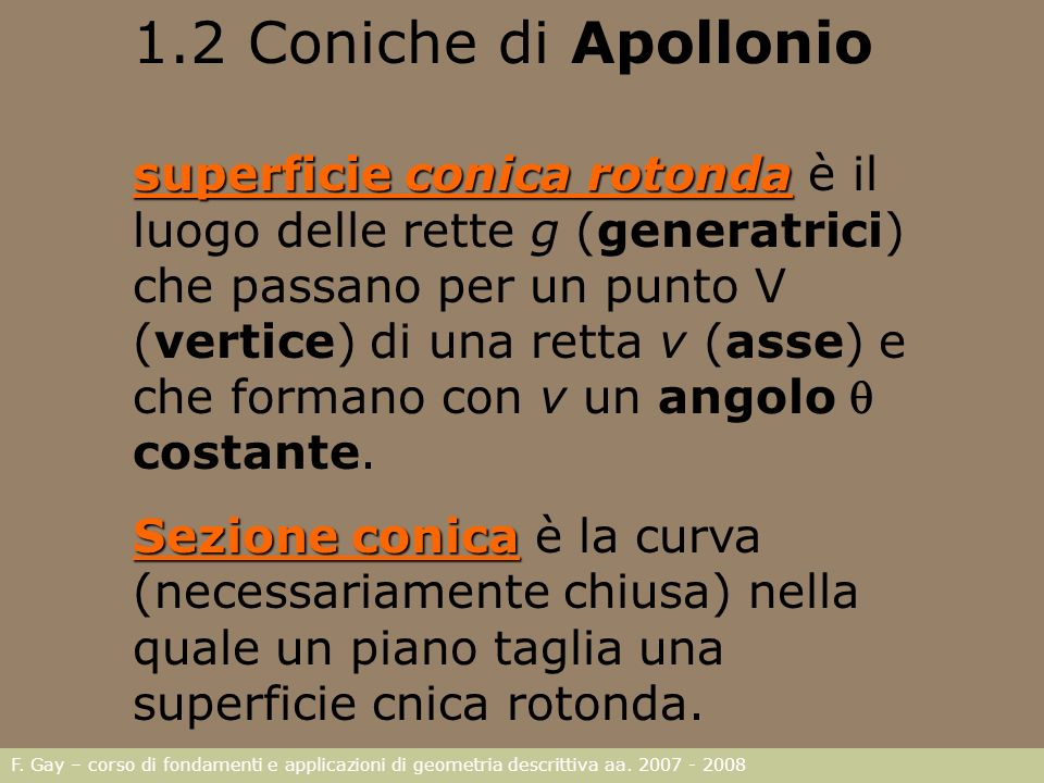 1.2 Coniche di Apollonio