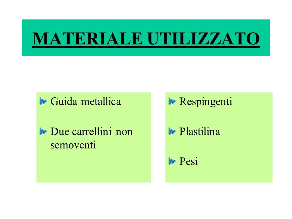 MATERIALE UTILIZZATO Guida metallica Due carrellini non semoventi