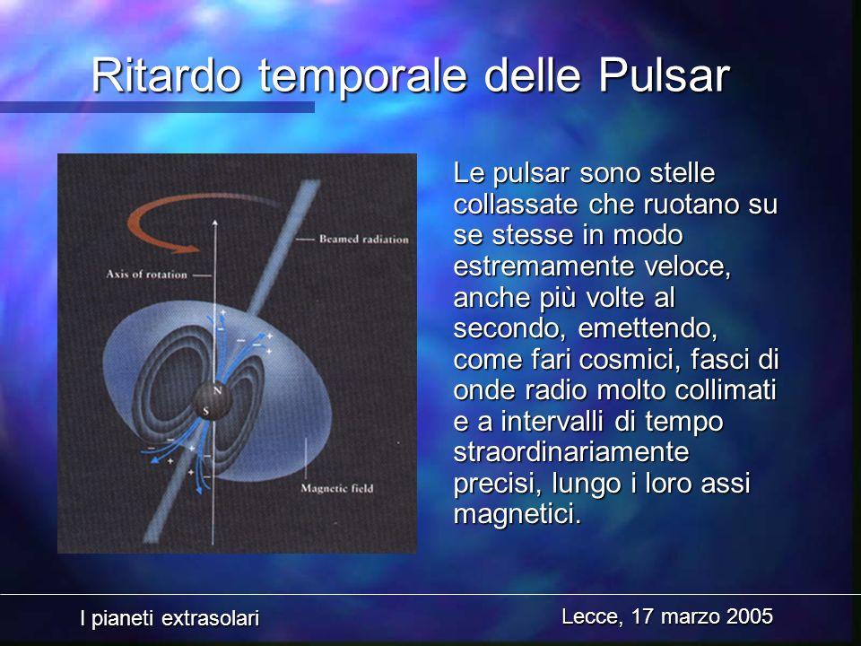 Ritardo temporale delle Pulsar