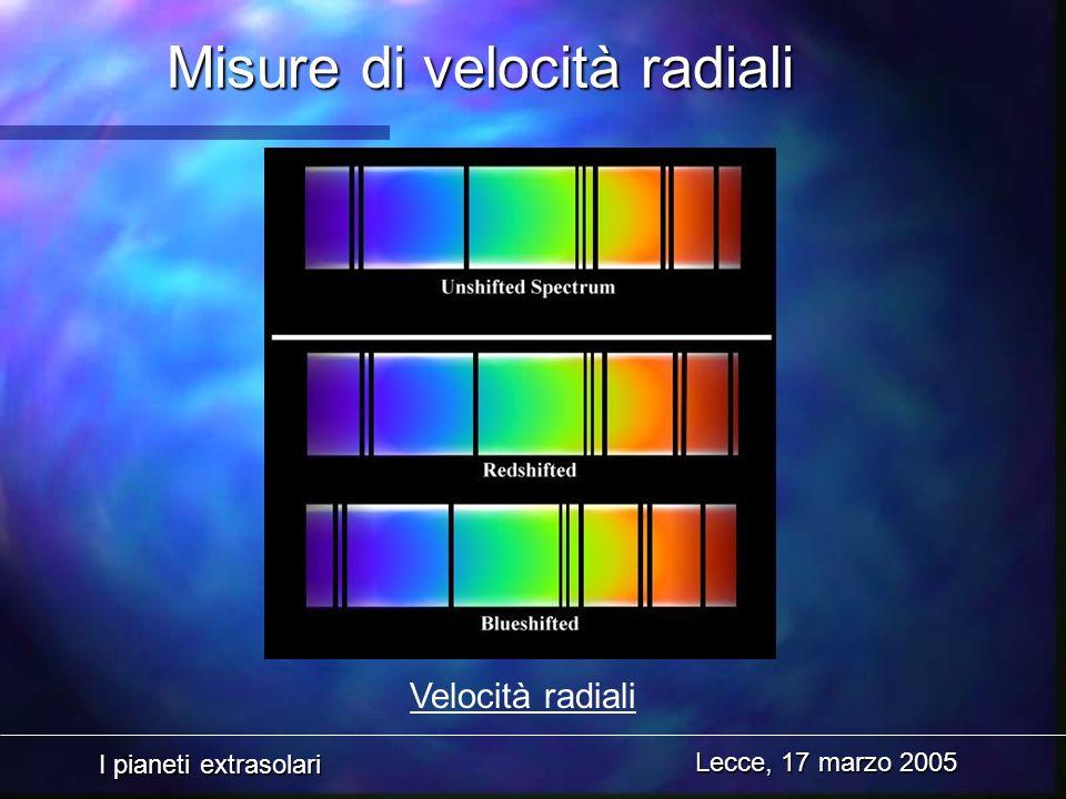 Misure di velocità radiali