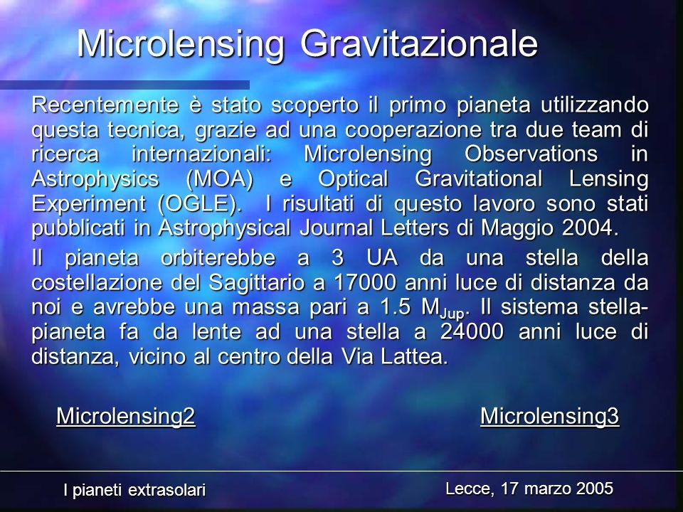 Microlensing Gravitazionale