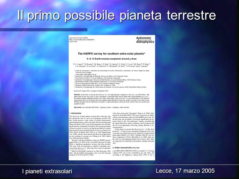 Il primo possibile pianeta terrestre