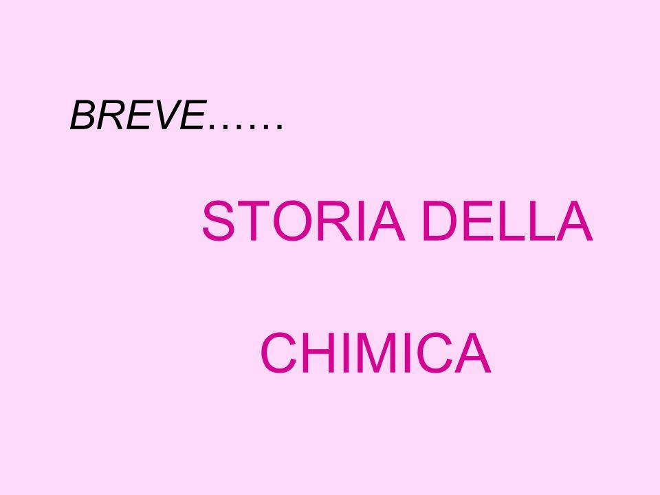 BREVE…… STORIA DELLA CHIMICA
