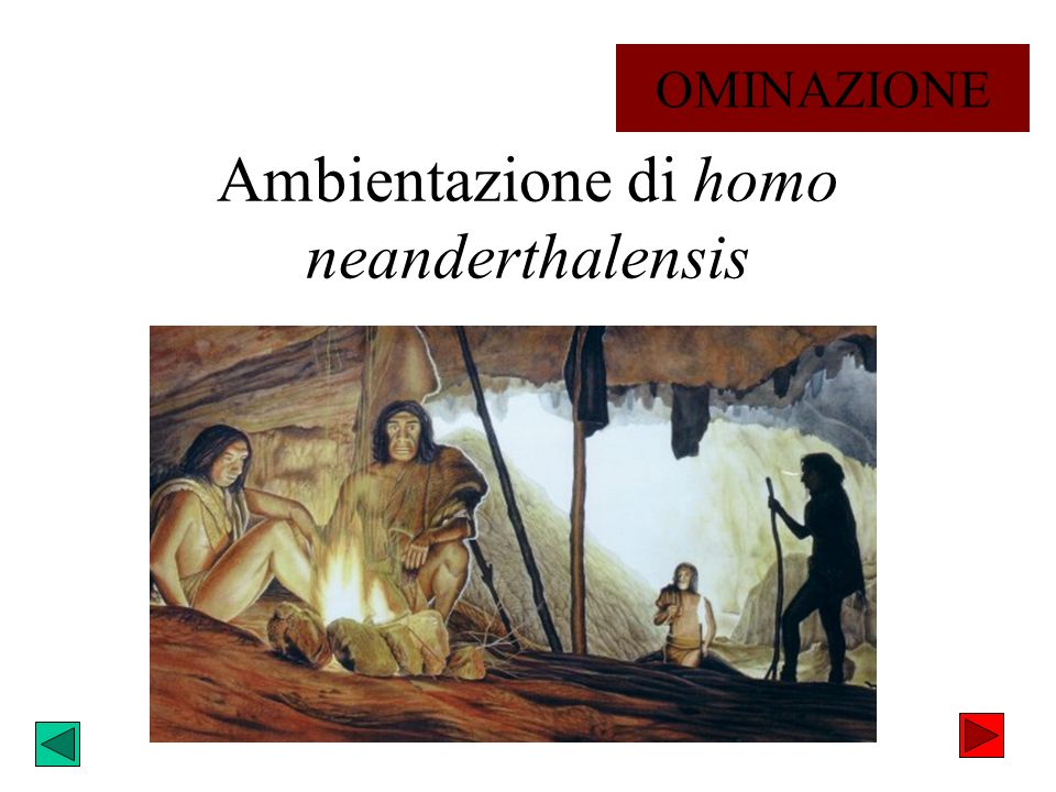 Ambientazione di homo neanderthalensis