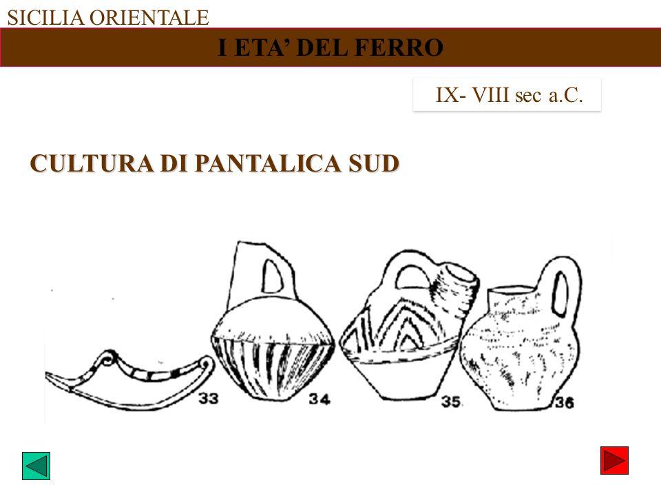CULTURA DI PANTALICA SUD