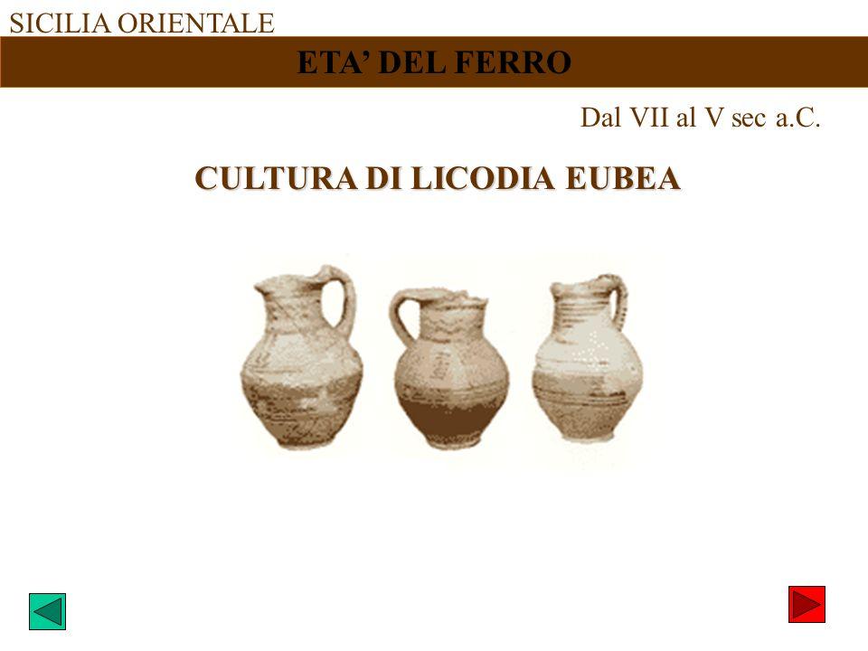 CULTURA DI LICODIA EUBEA