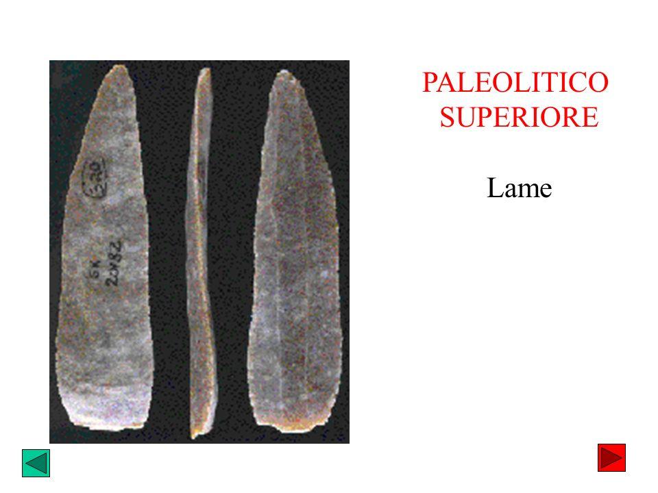 PALEOLITICO SUPERIORE Lame