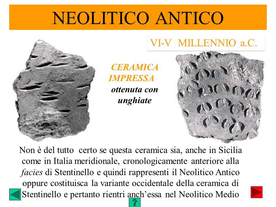 NEOLITICO ANTICO VI-V MILLENNIO a.C. CERAMICA IMPRESSA