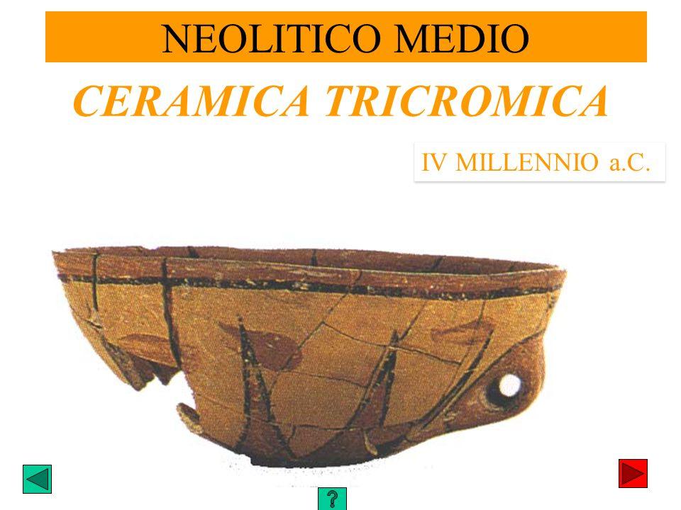 NEOLITICO MEDIO CERAMICA TRICROMICA IV MILLENNIO a.C.