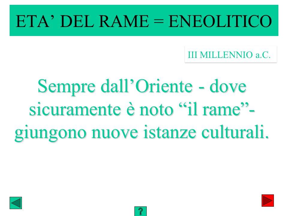 ETA' DEL RAME = ENEOLITICO