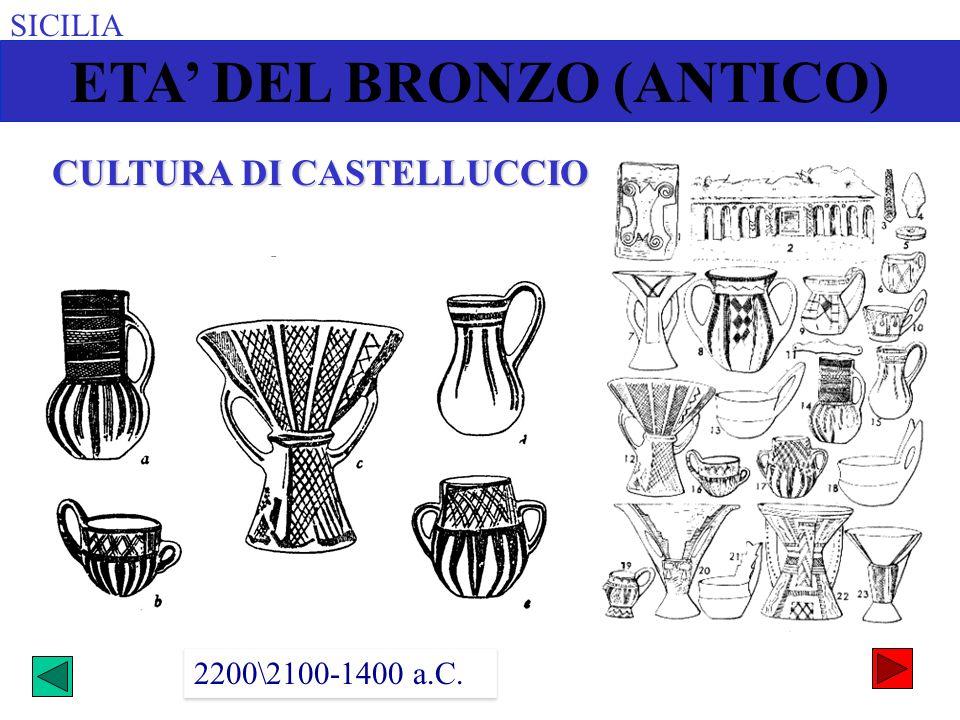 ETA' DEL BRONZO (ANTICO) CULTURA DI CASTELLUCCIO