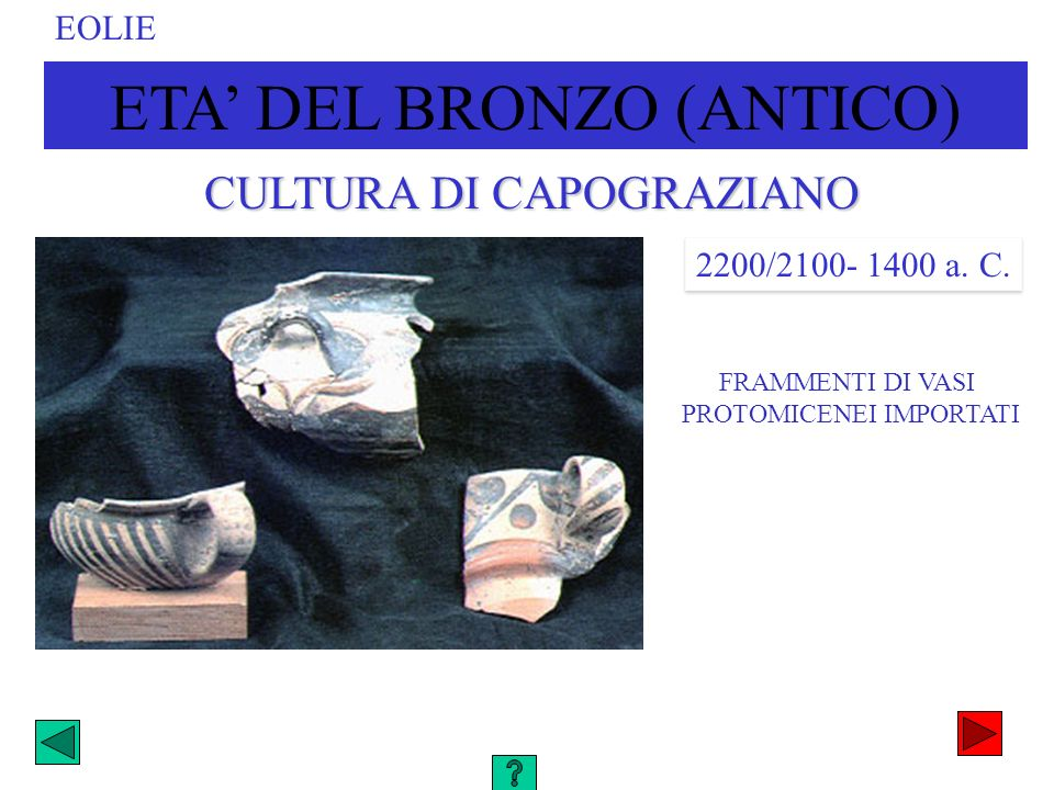 ETA' DEL BRONZO (ANTICO)