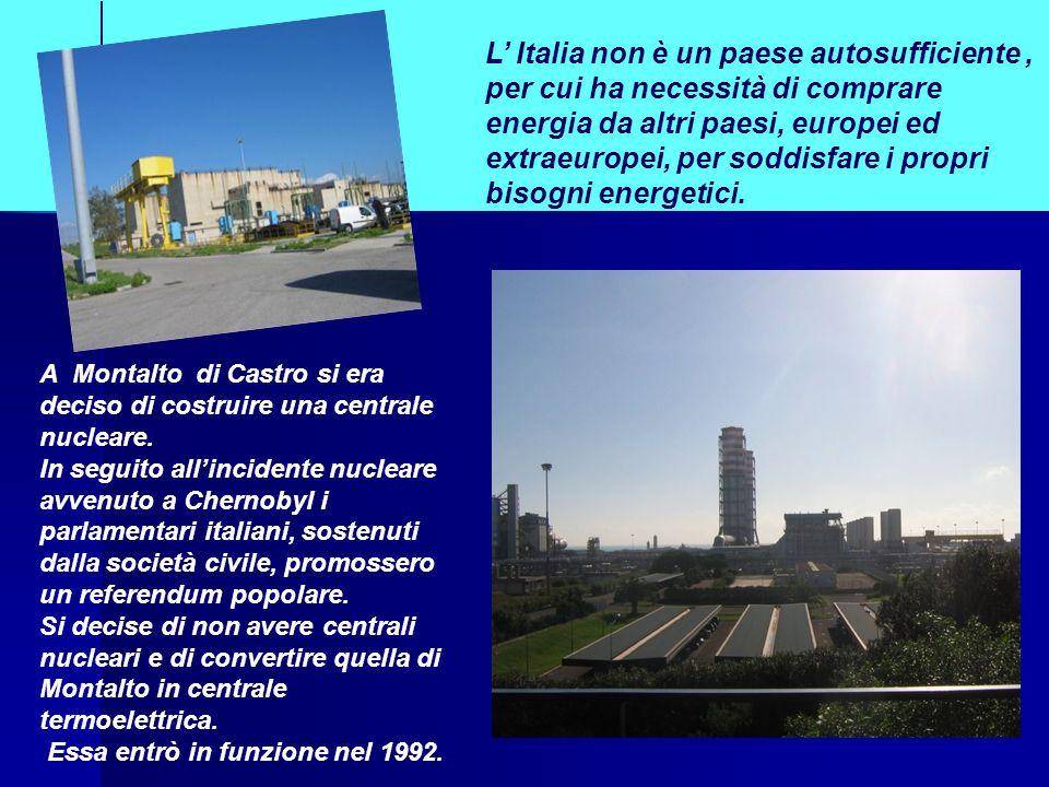 L' Italia non è un paese autosufficiente , per cui ha necessità di comprare energia da altri paesi, europei ed extraeuropei, per soddisfare i propri bisogni energetici.