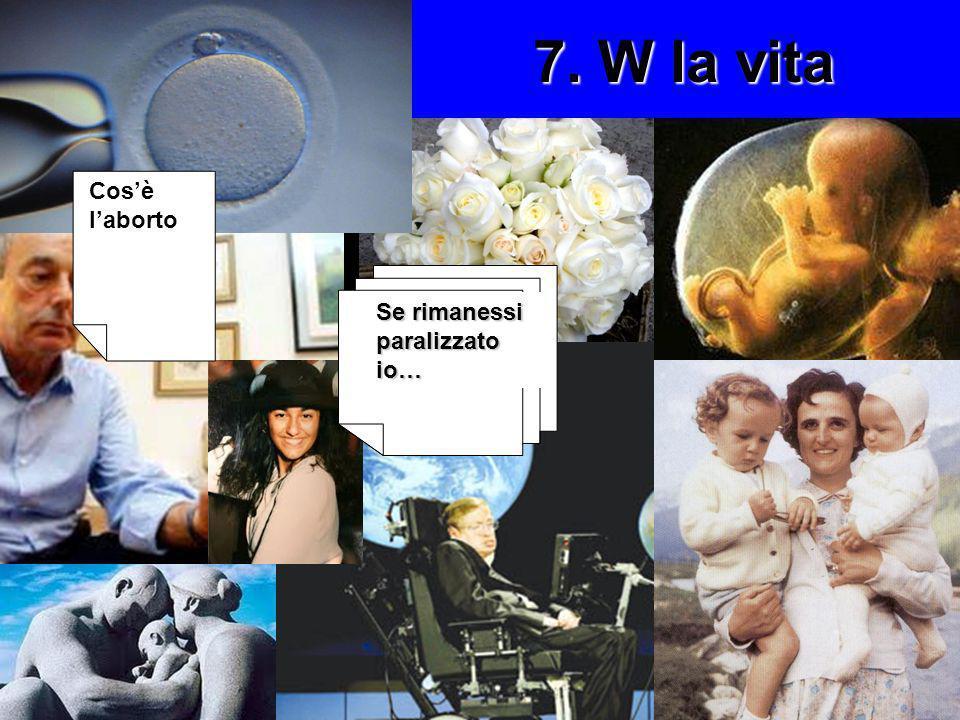 7. W la vita Cos'è l'aborto Se rimanessi paralizzato io…