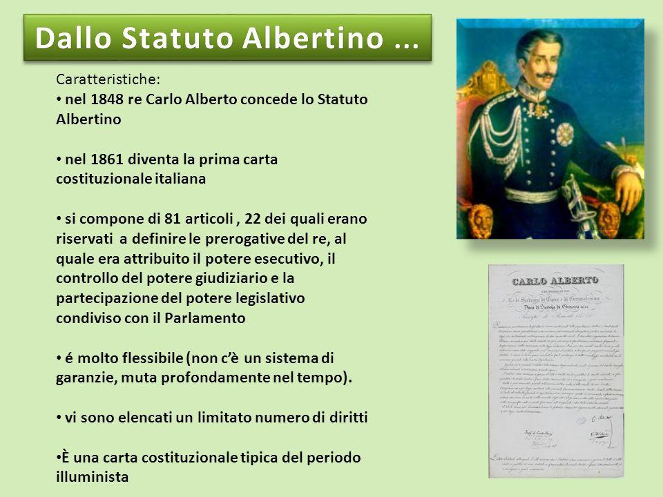 Dallo Statuto Albertino ...