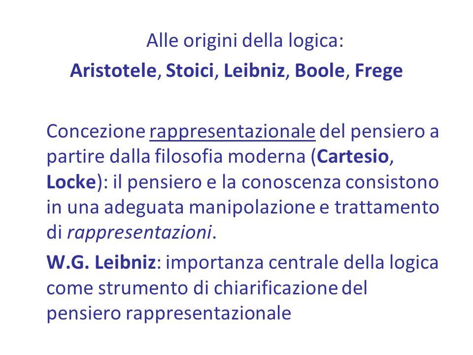 Alle origini della logica: Aristotele, Stoici, Leibniz, Boole, Frege