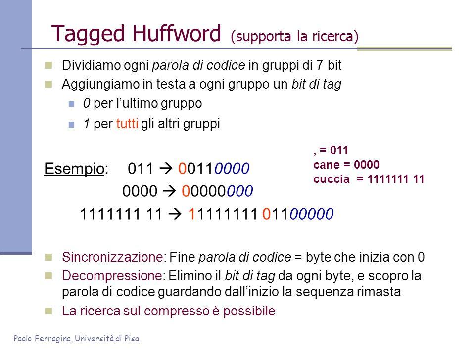Tagged Huffword (supporta la ricerca)