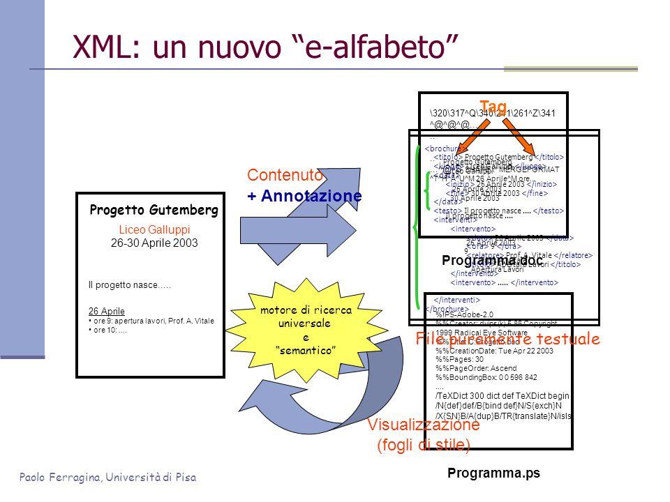 XML: un nuovo e-alfabeto