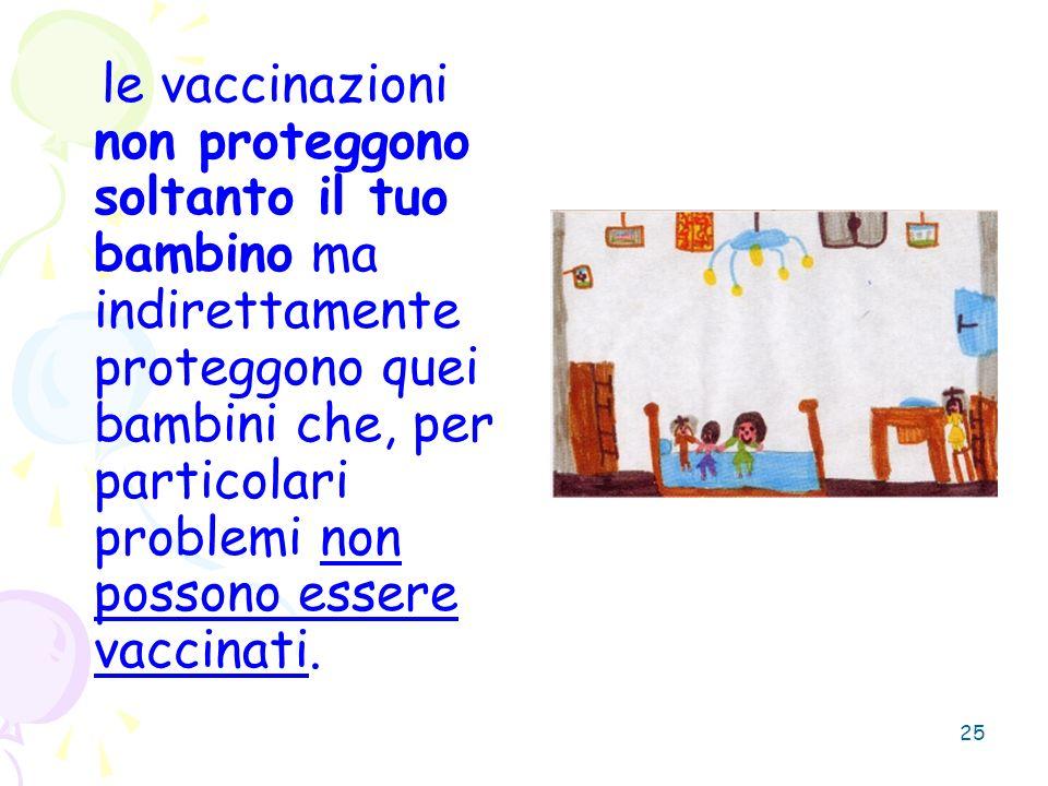 le vaccinazioni non proteggono soltanto il tuo bambino ma indirettamente proteggono quei bambini che, per particolari problemi non possono essere vaccinati.