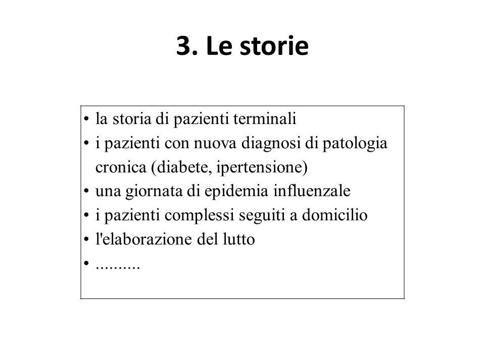 3. Le storie • la storia di pazienti terminali