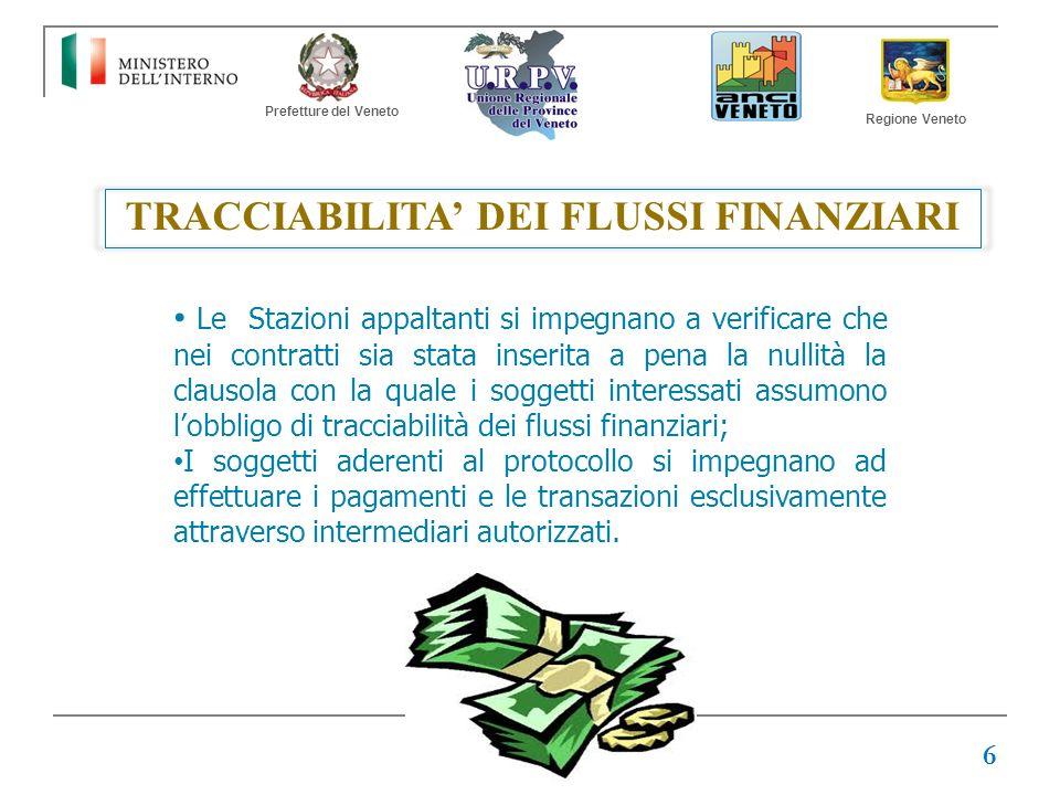 TRACCIABILITA' DEI FLUSSI FINANZIARI