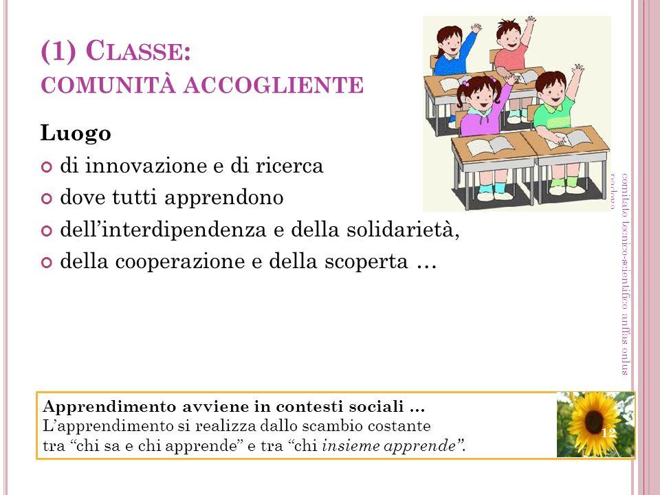 (1) Classe: comunità accogliente