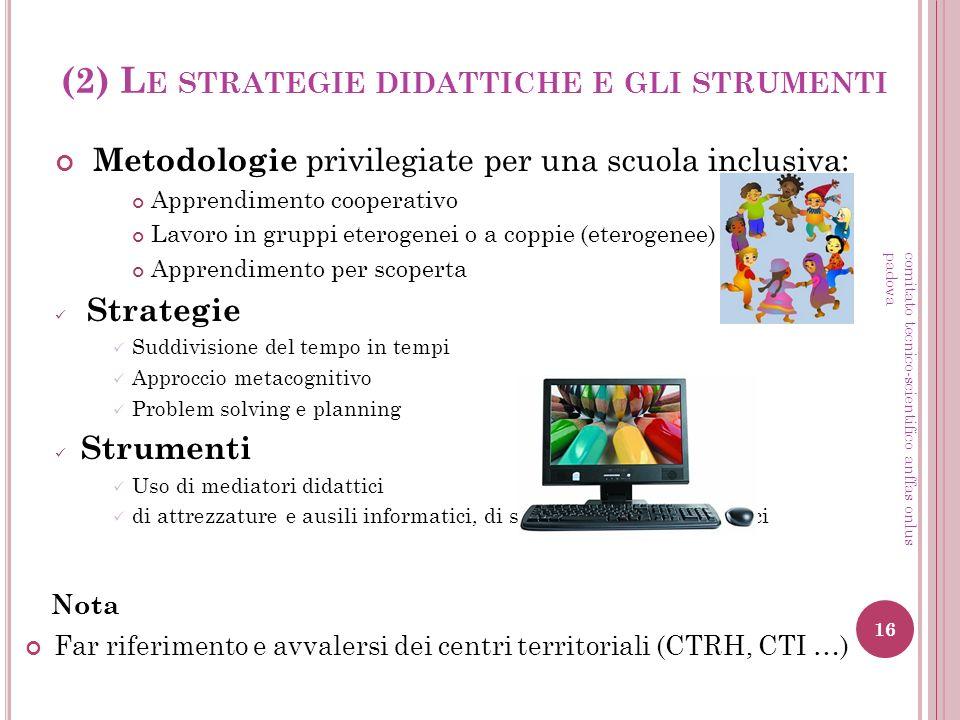 (2) Le strategie didattiche e gli strumenti
