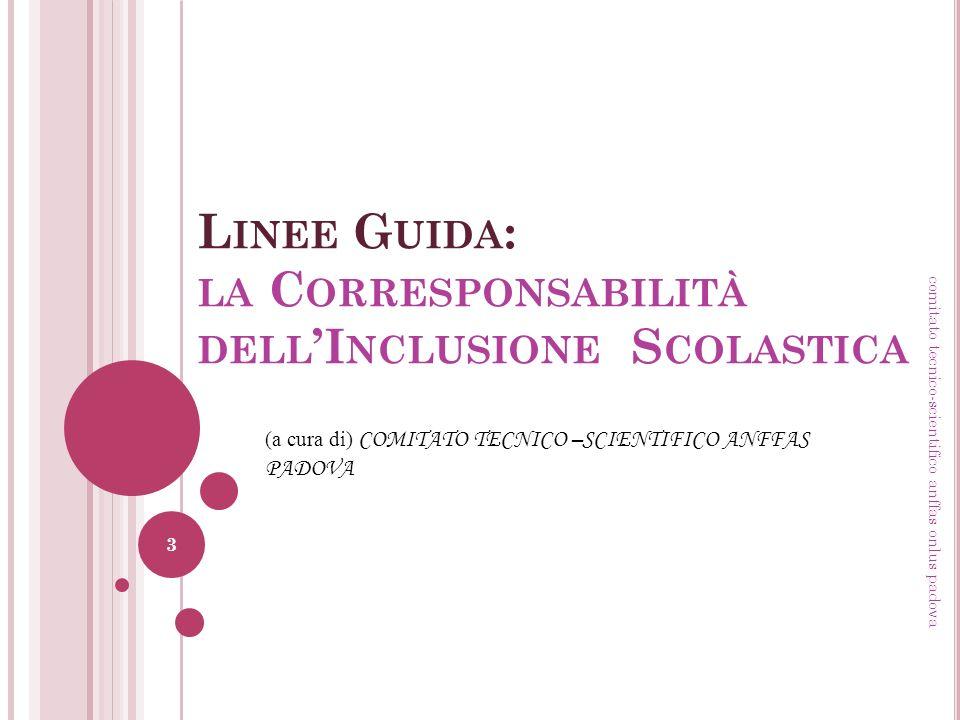 Linee Guida: la Corresponsabilità dell'Inclusione Scolastica