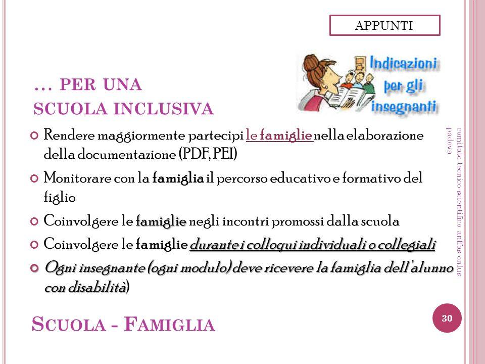 … per una scuola inclusiva
