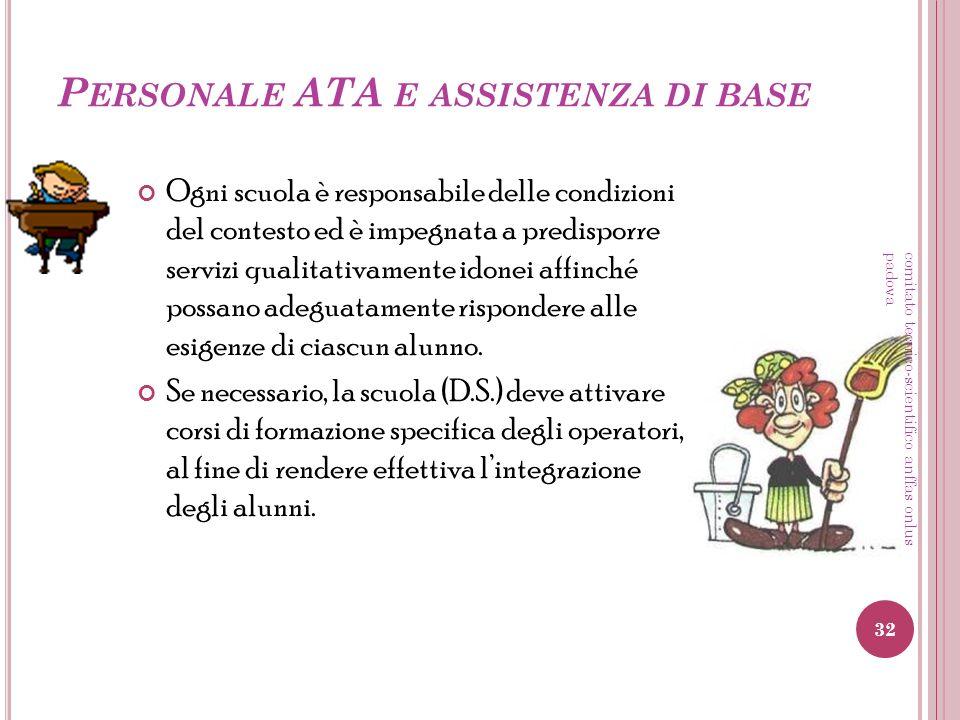 Personale ATA e assistenza di base