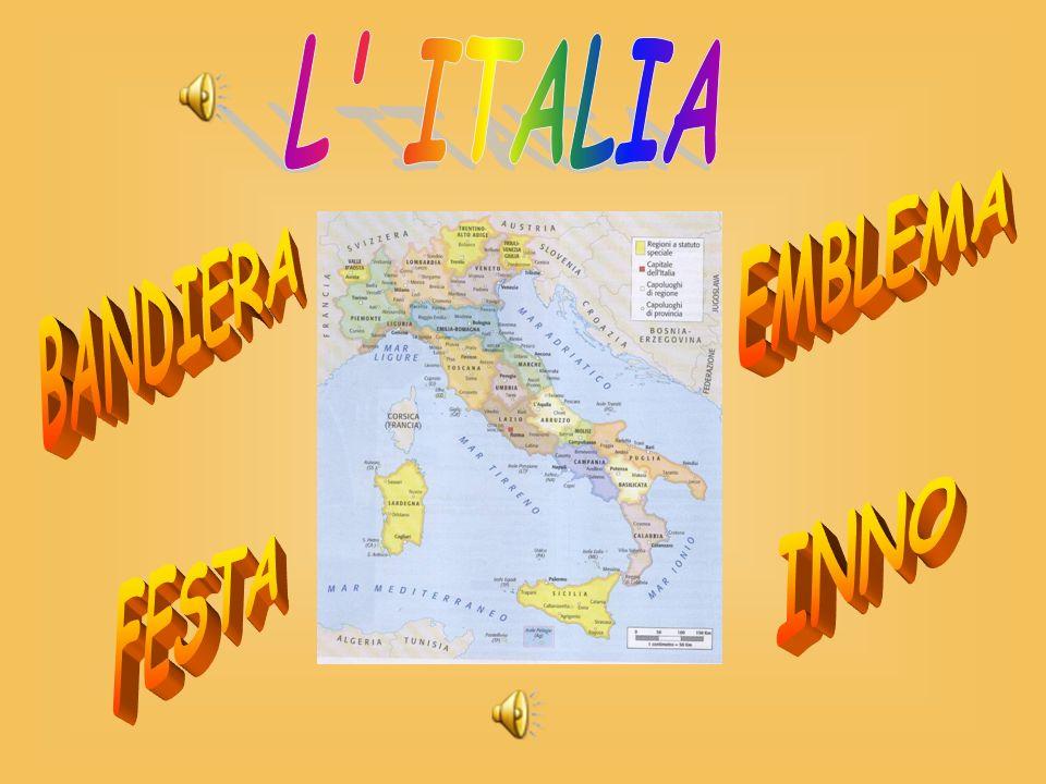 L ITALIA EMBLEMA BANDIERA INNO FESTA