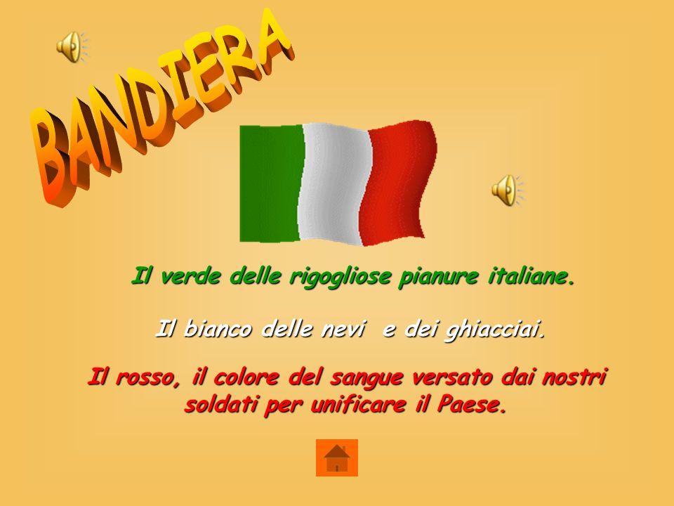 BANDIERA Il verde delle rigogliose pianure italiane.