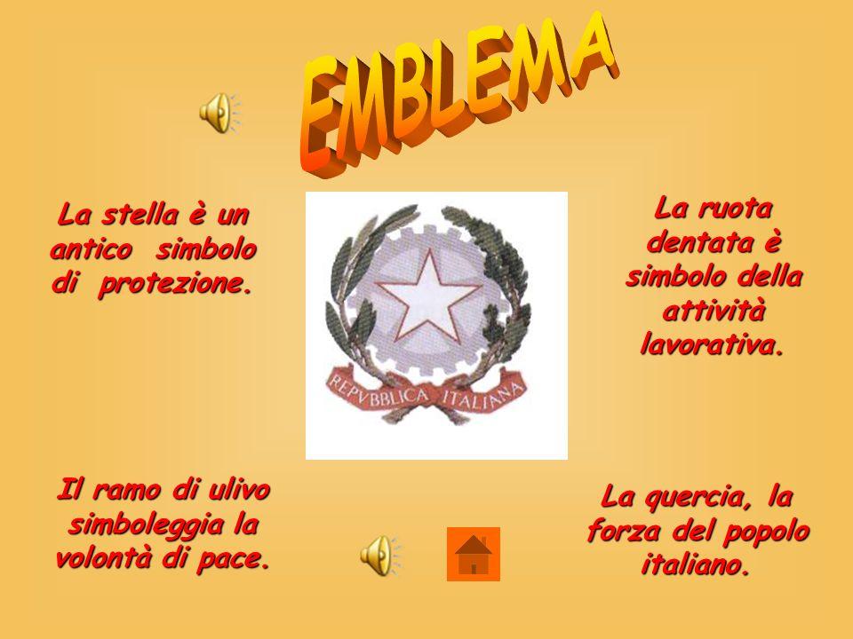EMBLEMA La ruota dentata è simbolo della attività lavorativa.